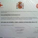 Надежда сертификат преподавателя языковой школы